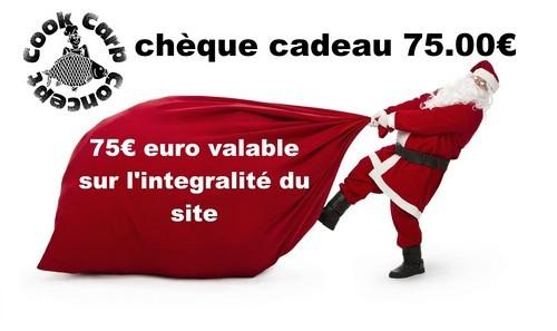 Chèque cadeau 75 Euros
