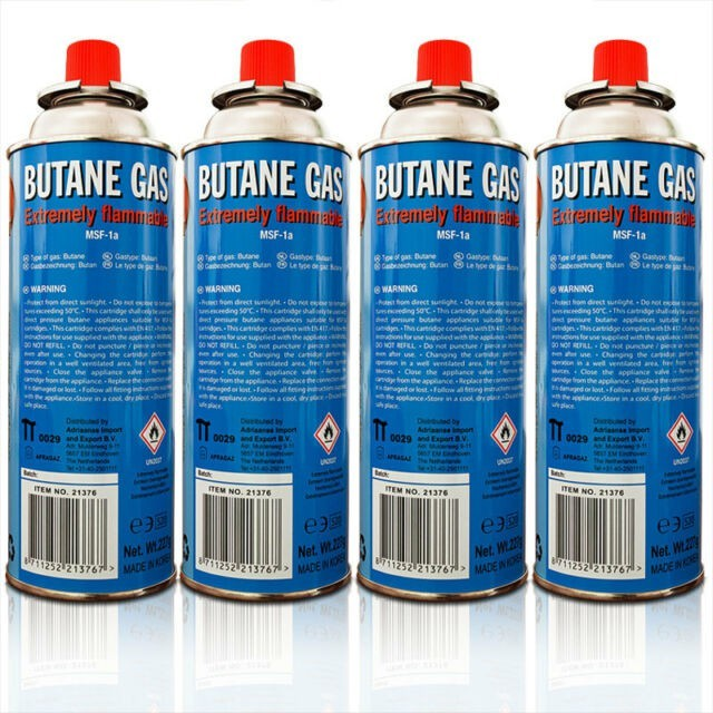 4 bouteilles de gaz butane 227gr